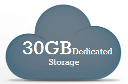 30 GB Dedicated Storage